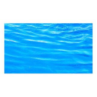Water pretty deep blue rippling beautiful photo business card