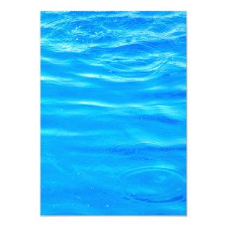 Water pretty deep blue rippling beautiful photo card