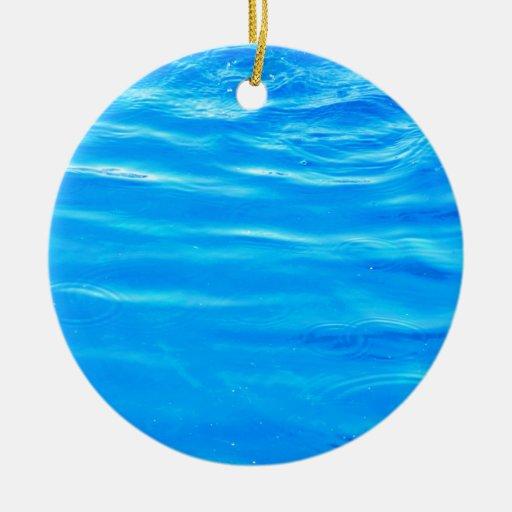 Water pretty deep blue rippling beautiful photo ceramic ornament