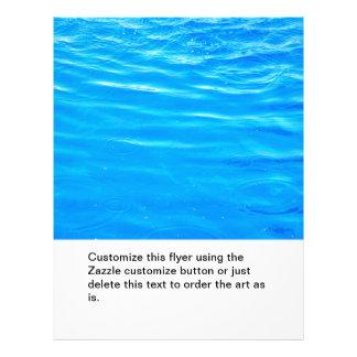 "Water pretty deep blue rippling beautiful photo 8.5"" x 11"" flyer"