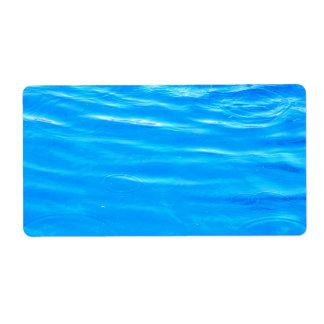 Water pretty deep blue rippling beautiful photo label
