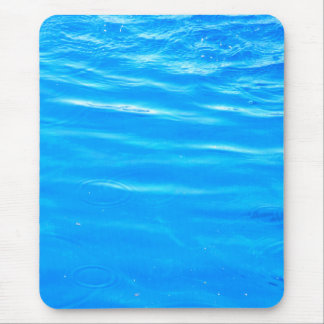Water pretty deep blue rippling beautiful photo mouse pad