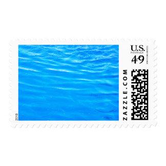 Water pretty deep blue rippling beautiful photo postage