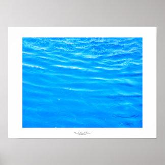 Water pretty deep blue rippling beautiful photo poster
