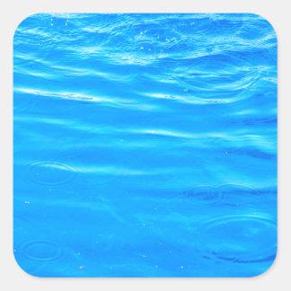 Water pretty deep blue rippling beautiful photo square sticker