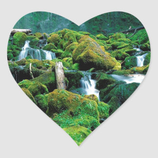 Water Proxy Falls Cascade Range Oregon Heart Sticker