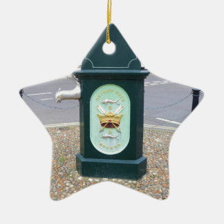 Water Pump At Southwold Ceramic Ornament