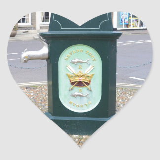 Water Pump At Southwold Heart Sticker