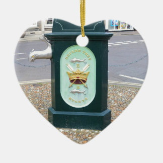Water Pump At Southwold Double-Sided Heart Ceramic Christmas Ornament