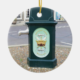 Water Pump At Southwold Double-Sided Ceramic Round Christmas Ornament