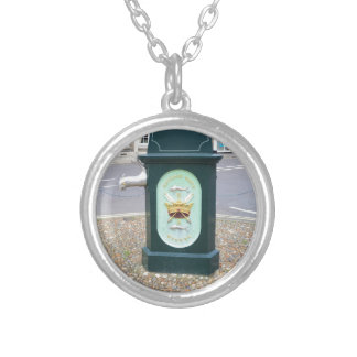 Water Pump At Southwold Silver Plated Necklace