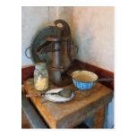 Water Pump in Kitchen Post Card
