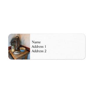 Water Pump in Kitchen Return Address Label