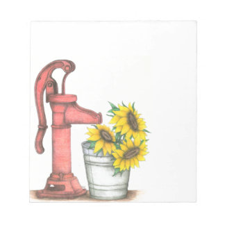 Water Pump notepad
