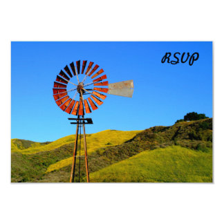"""Water Pumping Windmill 3.5"""" X 5"""" Invitation Card"""