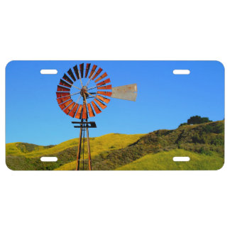 Water Pumping Windmill License Plate