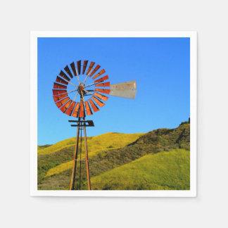 Water Pumping Windmill Paper Napkin