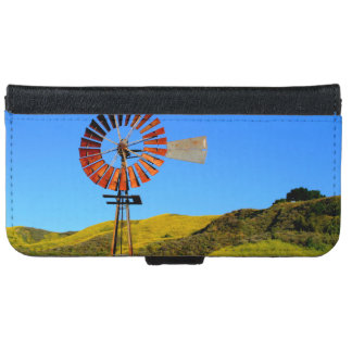 Water Pumping Windmill iPhone 6 Wallet Case