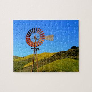 Water Pumping Windmill Jigsaw Puzzle
