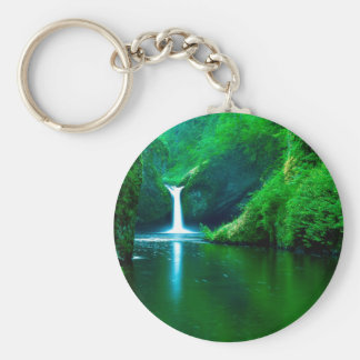 Water Punch Bowl Falls Eagle Creek Wilderness Keychain