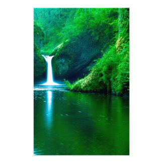 Water Punch Bowl Falls Eagle Creek Wilderness Stationery Paper
