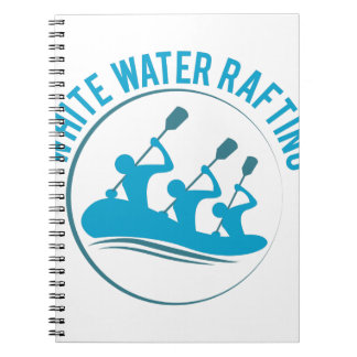 Water Rafting Spiral Note Book