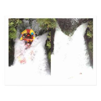 water rafting post card