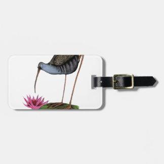 water rail wild bird luggage tag