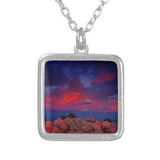 Water Red Rock Night Custom Necklace
