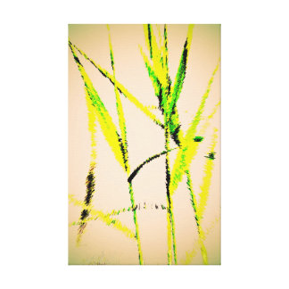 Water Reed Digital Art Canvas Print