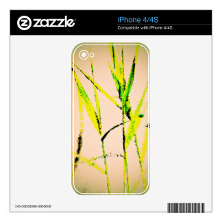 Water Reed Digital Art Skin For The iPhone 4