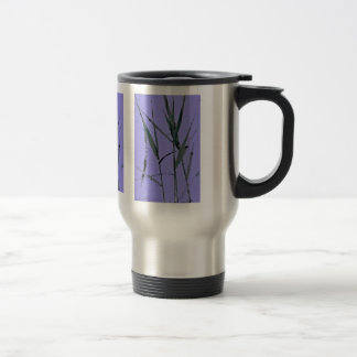 Water Reed Digital Art Travel Mug