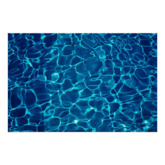 Water reflection in Swimming pool, abstract Poster