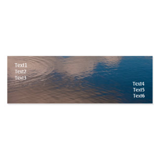 Water reflection mini business card