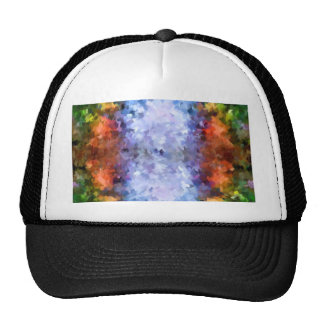 water reflection rain  water puddle  abstract trucker hat
