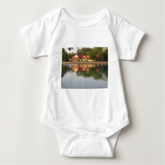 Water reflections baby bodysuit