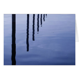 Water Reflections in the Evening - Greeting Card