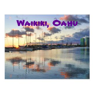 Water Reflections in Waikiki Postcard