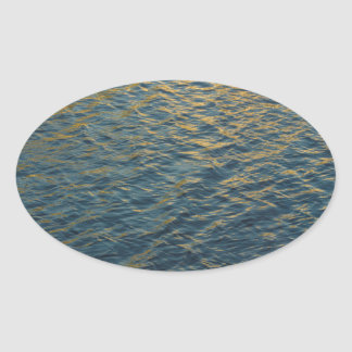 Water Reflections Oval Sticker