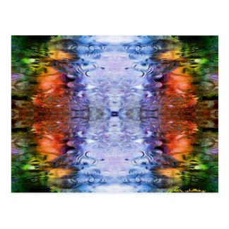 Water Reflections rain puddles abstract Postcard