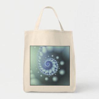 Water Rhythm Grocery Tote Bag