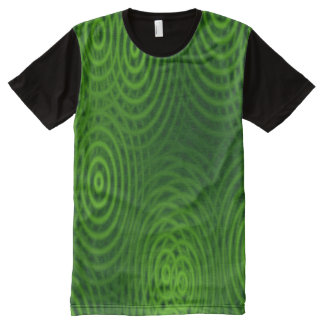 Water Rings Pattern green + your ideas All-Over Print T-shirt