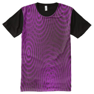 Water Rings Pattern pink magenta + your ideas All-Over Print T-shirt