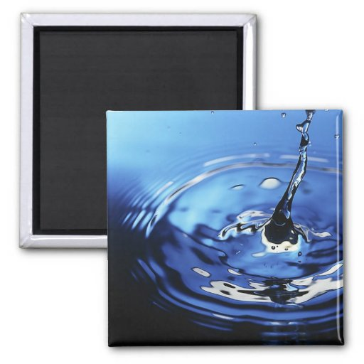 Water Ripple 2 Inch Square Magnet