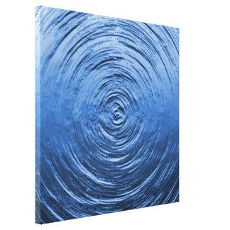 Water Ripple Blue Canvas Print