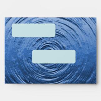 Water Ripple Blue Envelope