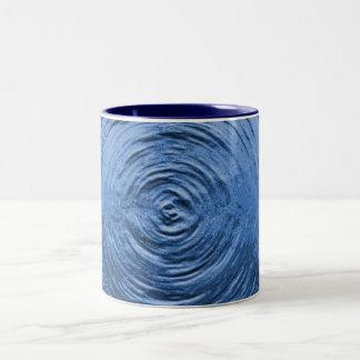 Water Ripple Blue Two-Tone Coffee Mug