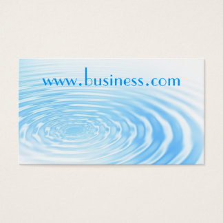 Water ripple business card
