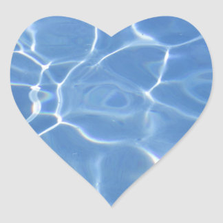 Water ripple heart sticker