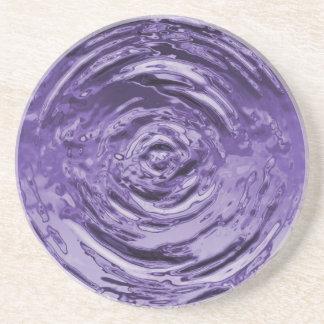 Water Ripple Purple Drink Coaster
